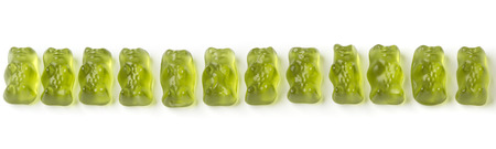 green jelly bears Stock Photo