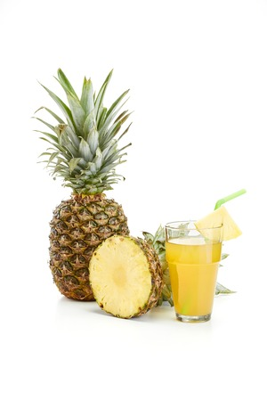 fresh pineapple on white background Stock Photo - 37059839