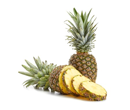 fresh pineapple on white background Stock Photo - 37059841
