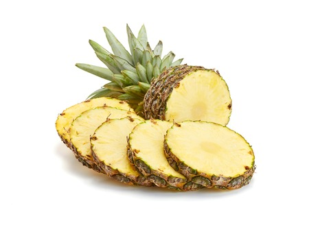 fresh pineapple on white background Stock Photo - 37059401