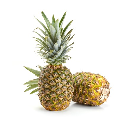 fresh pineapple isolated on white background Stock Photo - 37244197