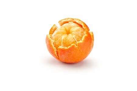fresh mandarines isolated on white background Stock Photo - 37244277