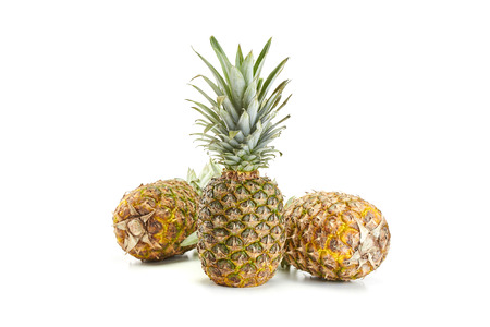 fresh pineapple on white background Stock Photo - 37737710