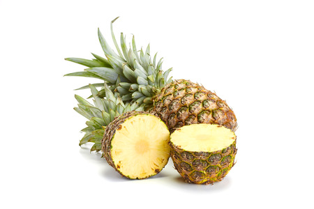 fresh pineapple on white background Foto de archivo
