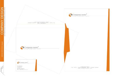 会社のコーポレート ・ アイデンティティ、フォーム、封筒、名刺