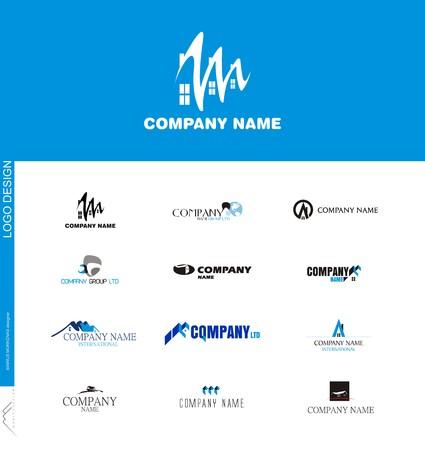 Real estate or construction company logo design