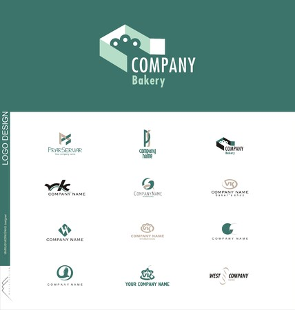 Confectionery or bakery created logo design