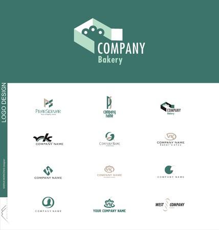 logos de empresas: Dulces o panadería creada diseño de logotipo