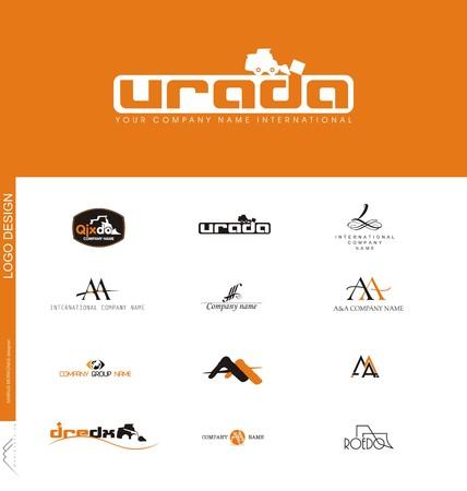 建設会社、土地動作作成したロゴデザイン  イラスト・ベクター素材