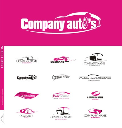 Vehicle sales and car rental companies created logo design