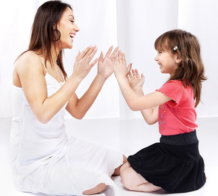 Woman and child playing Stock Photo - 12789344