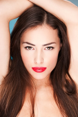 perfect face: Portrait of a pretty young woman