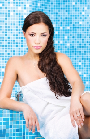 Woman relaxing in spa center Stock Photo - 14737976