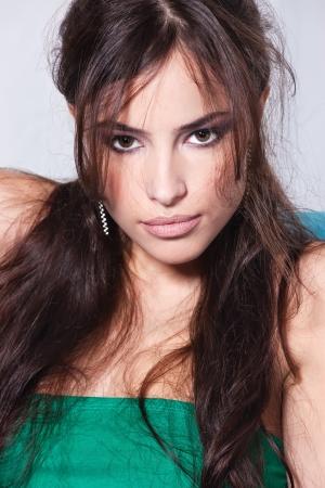 Portrait of a sensual brunette woman Stock Photo - 14738000