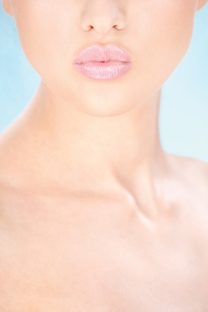 beautiful neck: Part of a womans face