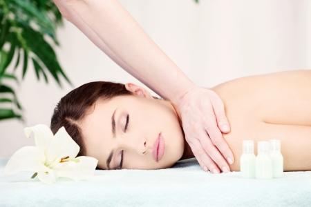 relax massage: Shoulder massage in spa center