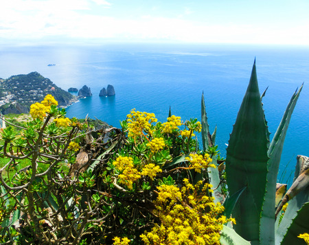 tyrrhenian: Capri island, Italy.Capri is an island in the Tyrrhenian Sea near Naples. Stock Photo