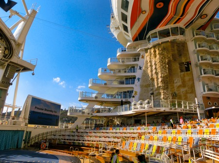 allure: Barselona, Spaine - September, 6 2015: The cruise ship Allure of the Seas, The Royal Caribbean International. The interior view of the ship