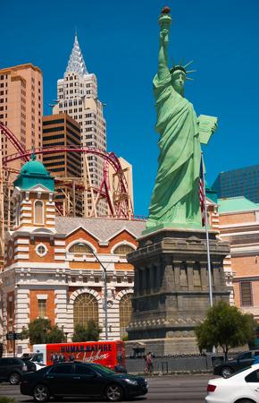 new york strip: Las Vegas, Nevada, United States of America - May 04, 2016: New York - New York Hotel Casino. New York New York is a luxury hotel and casino, located on the Las Vegas Strip