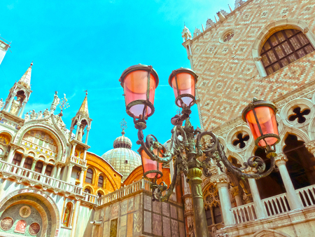 st  mark's square: Lantern on St Marks square Venice in Italy