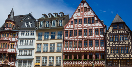 roemerberg: Frankfurt, Germany - June 15, 2016: View of Roemerberg square in Frankfurt, Germany. Frankfurt is the fifth-largest city in Germany.