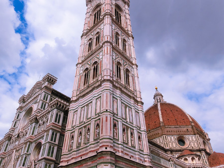 Basilica of Santa Maria del Fiore or Basilica of Saint Mary of the Flower in Florence, Italy Stock Photo