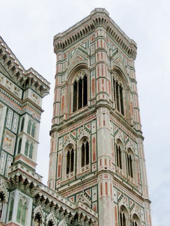 the campanile: Bell Tower for the Basilica di Santa Maria del Fiore and Giottos Campanile in Florence, Italy