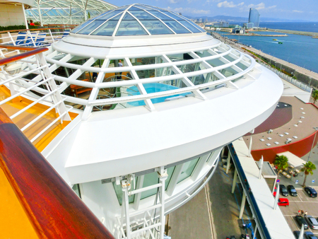allure: Barselona, Spaine - September 06, 2015: The cruise ship Allure of the Seas, The Royal Caribbean International. The interior view of the ship