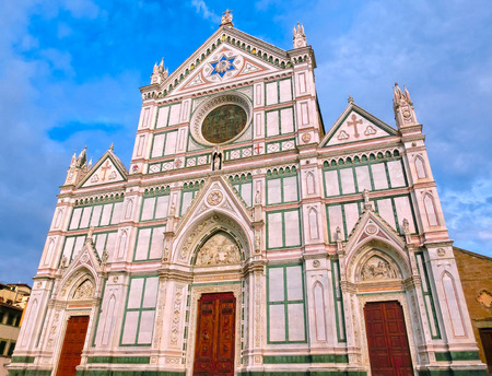 santa cross: The Basilica di Santa Croce or Basilica of the Holy Cross - famous Franciscan church on Florence, Italy