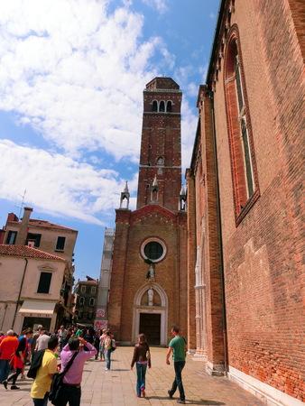 dei: Venice, Italy - May 01, 2014: Church of Santa Maria Gloriosa dei Frari, Venice