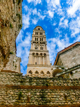 architecture monumental: Split, Croatia.Diocletians Palace in Split, Croatia. It is well preserved and important popular touristic attraction of Dalmatia.