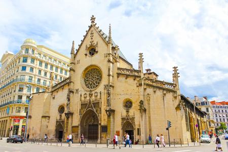 lyon: Lyon, France - June 16, 2016:The Saint-Bonaventure church at Lyon France