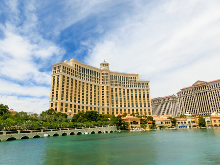 Las Vegas, United States of America - May 05, 2016: Luxury hotel Bellagio at Las Vegas, United States of America Editorial