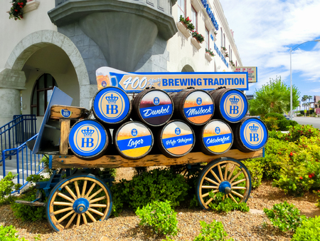 Las Vegas, United States of America - May 06, 2016: The main entrance at Bavarian beer restaurant in Las Vegas on May 06, 2016 Editorial