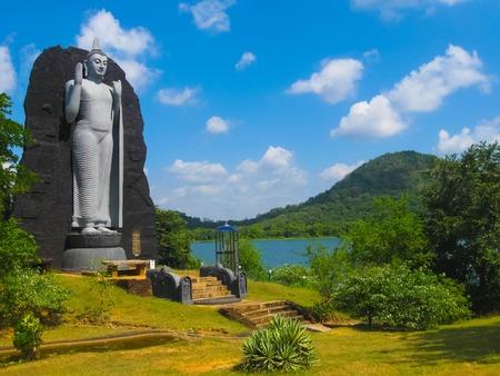 Polonnaruwa, Sri Lanka - May 01, 2009: The sculpture of Budda in Polonnaruwa temple - medieval capital of Ceylon or Sri Lanka, Asia, UNESCO on May 01, 2009 Editorial
