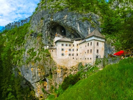 Postojna, Slovenia - View of the Predjama Castle