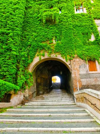 vincoli: The entrance to San Pietro In Vincoli - Rome Stock Photo
