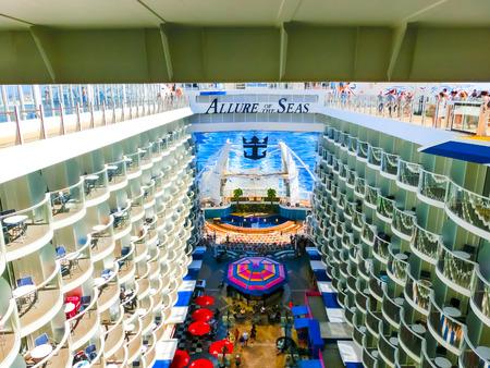 Barselona, Spaine - September, 6 2015: Royal Caribbean, Allure of the Seas Editorial