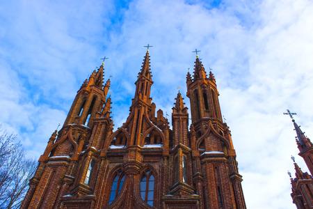 Beautiful Gothic Style St. Anne Church in VIlnius