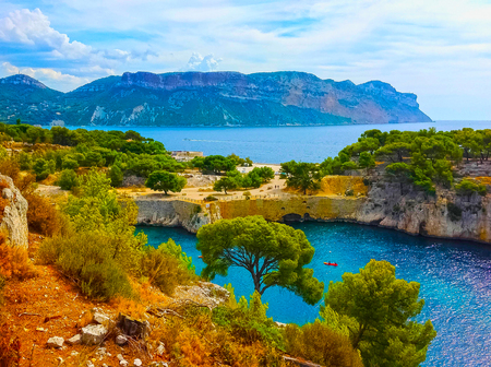 Calanque between Marseille and Cassis, Provence, France