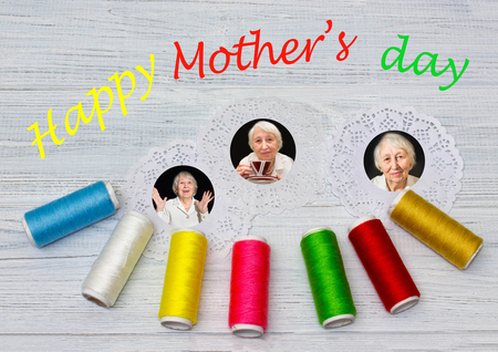Mothers day composition with photos