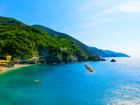 The view of Monterosso, Italy