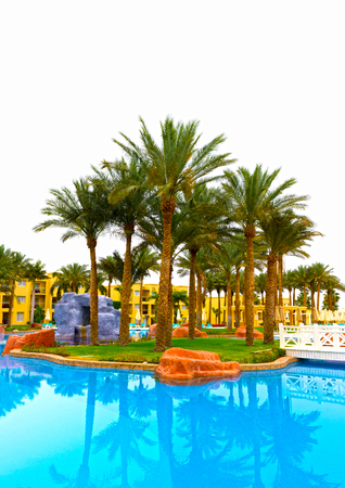 sharm el sheik: Sharm El Sheikh, Egypt - April 13, 2017: The luxury five stars hotel RIXOS SEAGATE SHARM Editorial