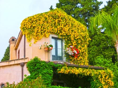 Beautiful balcony in Italy Stock Photo