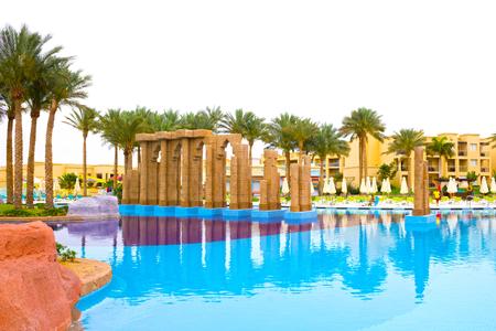 greengrass: Sharm El Sheikh, Egypt - April 13, 2017: The luxury five star hotel RIXOS SEAGATE SHARM