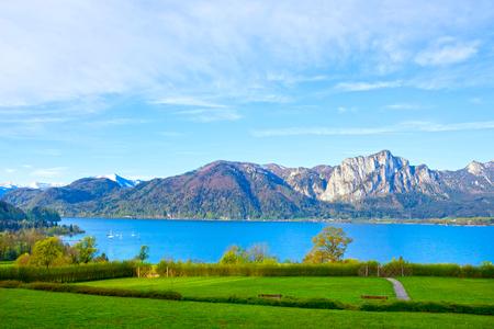 Beautiful landscape with Alps, Salzburger Land, Austria