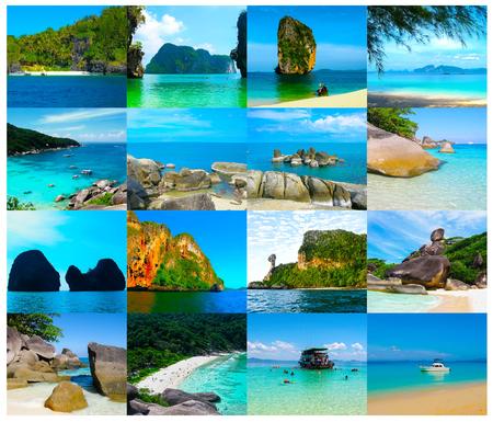 Tropical landscape. The island at Andaman sea, Thailand