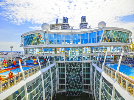 Barselona, Spaine - September 06, 2015: The cruise ship Allure of the Seas owned Royal Caribbean International Editorial