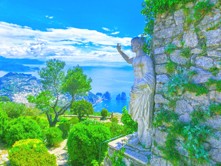 Capri, Italy - Beautiful view on the Island,