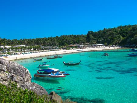 Beautiful beach on a tropical island Koh Racha Yai Stock Photo